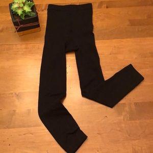 Justice fleece tights in medium